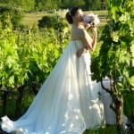 Bryllup på vingård ved Cortona