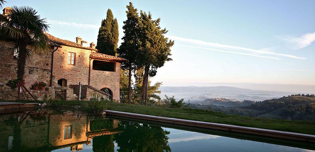 Gammel vingård ved Certaldo