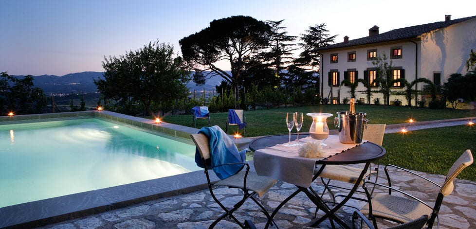 Historisk hotell mellom Firenze og Arezzo