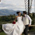 Bryllup på vingård ved Firenze